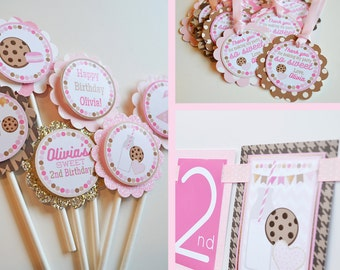 Cookies & Milk Birthday Party Decorations Package Fully Assembled