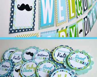 Little Man Baby Shower Decorations Package Fully Assembled