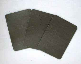 """Tuff Cards, Teflon Project Cards 2-1/2"""" X 3-1/2"""", Set of 3, Metal Clay supply, jewelry"""
