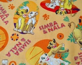 Simba & Nala - Disney - Springs Creative - Cotton Fabric - CP54467 - YOU PICK Quantity SIZE 1/2 yd - 1 1/2 yds