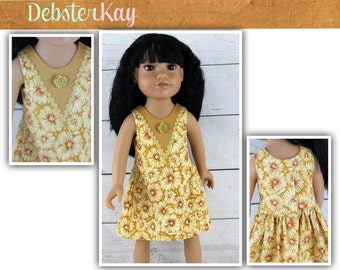 Love U Bunches Party Dress - Doll clothes to fit 18 inch dolls such as Journey Girl dolls and similar 18 inch dolls E38