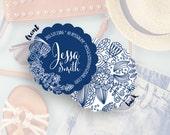 Custom Business Card, Business Card Design, Mommy Calling Cards, Etsy Business Card , Cards & Case// Jessa S-S14 UU1