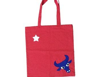 Longhorn Red Tote Bag - We Love Texas!
