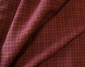 Rouge vin Plaid - Cour de tissu en laine feutrée en laine parfait pour accrocher tapis, Applique et l'artisanat quilting Acres