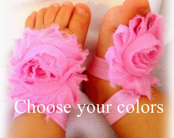 Baby Barefoot Sandals, Toddler Sandals, Toe Blooms, Baby Shoes, Newborn Shoes, Pink Sandals, Newborn Sandals, Infant barefoot Shoes, White