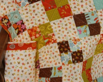 Doll Quilt With Matching Pillow and Pillowcase-Wrens and Friends