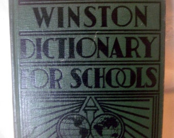 Vintage Winston Dictionary, retro school dictionary, illustrated dictionary, 1940's dictionary, retro dictionary, child's dictionary