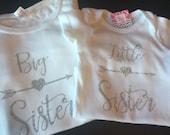 Silver Glitter Big sister/ Little sister set