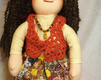 """Grandma Was a Flower Child....But Now She's Obsessed with Crafting 18"""" Waldorf-inspired Doll"""