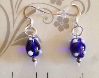 Blue and white dangle