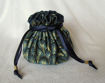 Jewelry Bag - Medium Size - Travel Tote - Pouch for Jewelry - EGYPTIAN FAN