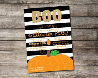 Halloween Pumpkin Halloween Party Invitation - Print Your Own