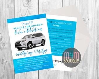 DIGITAL DOWNLOAD   Printable R+F Lexus Celebration Invite   4x6 5x7   Invitation, Party, Skinvitation, Rodan Fields, Aging, Skincare