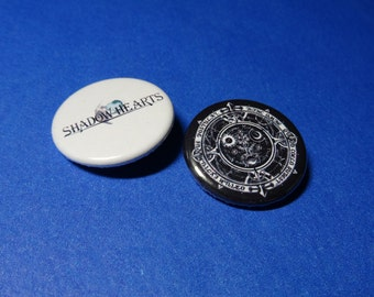 Shadow Hearts Pinback Button Set (or Magnets)