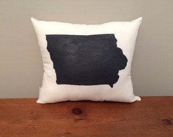 Iowa Pillow with Customizable Heart