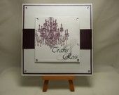 Custom Order for Kevin - Personalised CHANDELIER Wedding Congratulations Card