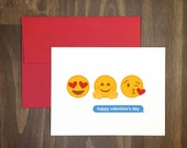 valentines day card / happy valentines day emojis / heart eyes / sweet card / unique card / for him / for her / for friend / anti valentine