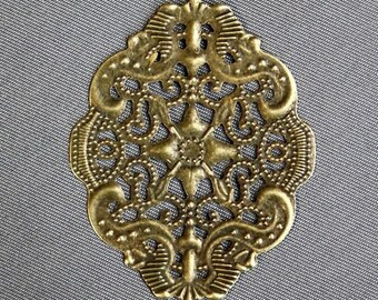 free uk postage Antique Bronze Filigree Component - pack of 20