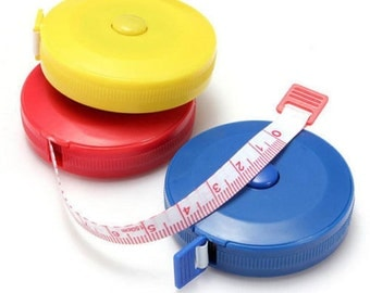free Uk postage 3 pcs Retractable tape measure in inches and centimeters