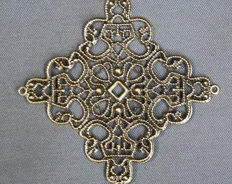 Pack of 15 – Antique Bronze Big Square Filigree