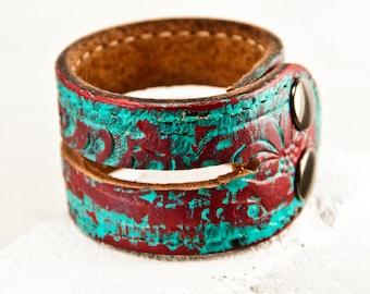 Leather Bracelets Cuffs Wristbands Women's Small Boho Gypsy Chic Accessories