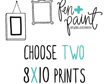 TWO 8 x 10 art prints, Inspirational Quote, Bible Verse, Scripture, Kitchen Art, Colorful, Joy Quote, Inspiring Quote