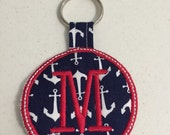 M Embroidered Keychain Ready to ship