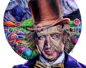 """Custom Portrait of Willy Wonka  - Print 14"""" X 11"""""""
