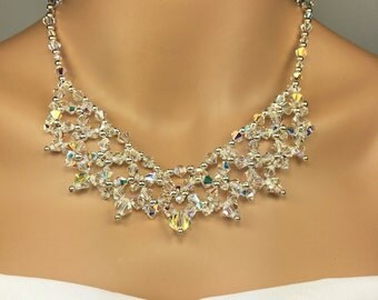Prom Jewelry Set Statement Necklace Prom Jewelry Swarovski Crystal Deborah
