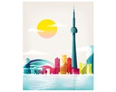 Toronto Print, Toronto Skyline Wall Art Print, Home Decor, Toronto Skyline Art Poster Travel Poster, Home Wall Decor Nursery Style