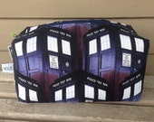 Dr Who Tardis Zipper Pouch