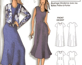 Butterick B5049 Sewing Pattern, Xxl - 6X Ladies Dresses and Jacket, Connie Crawford Design