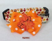 For Goodness Sake... Grab A Rake Fall Leaf Dog Collar Size XS through Large by Doogie Couture