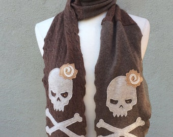 Skull Cashmere Scarf
