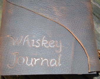 Handmade Leather Whiskey Tasting Journal Travel Size FREE Personalization