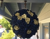 Wedding Pinata Guest Book Alternative Medium Navy Blue with Gold Accent