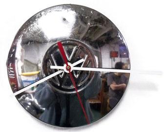 Volkswagen Hubcap Clock - VW Wall Clock - Volkswagon