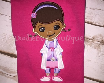 Doc McStuffins applique shirt
