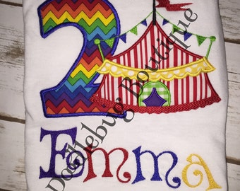 Circus Birthday shirt any number available