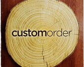 Woodland Animal Wood Slice Ornaments   Custom Order for Heather
