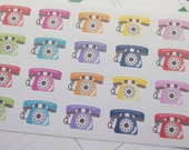 Planner Stickers 20 Telephone Stickers Plum Paper Planner PS356 Perfectly fits Erin Condren planners