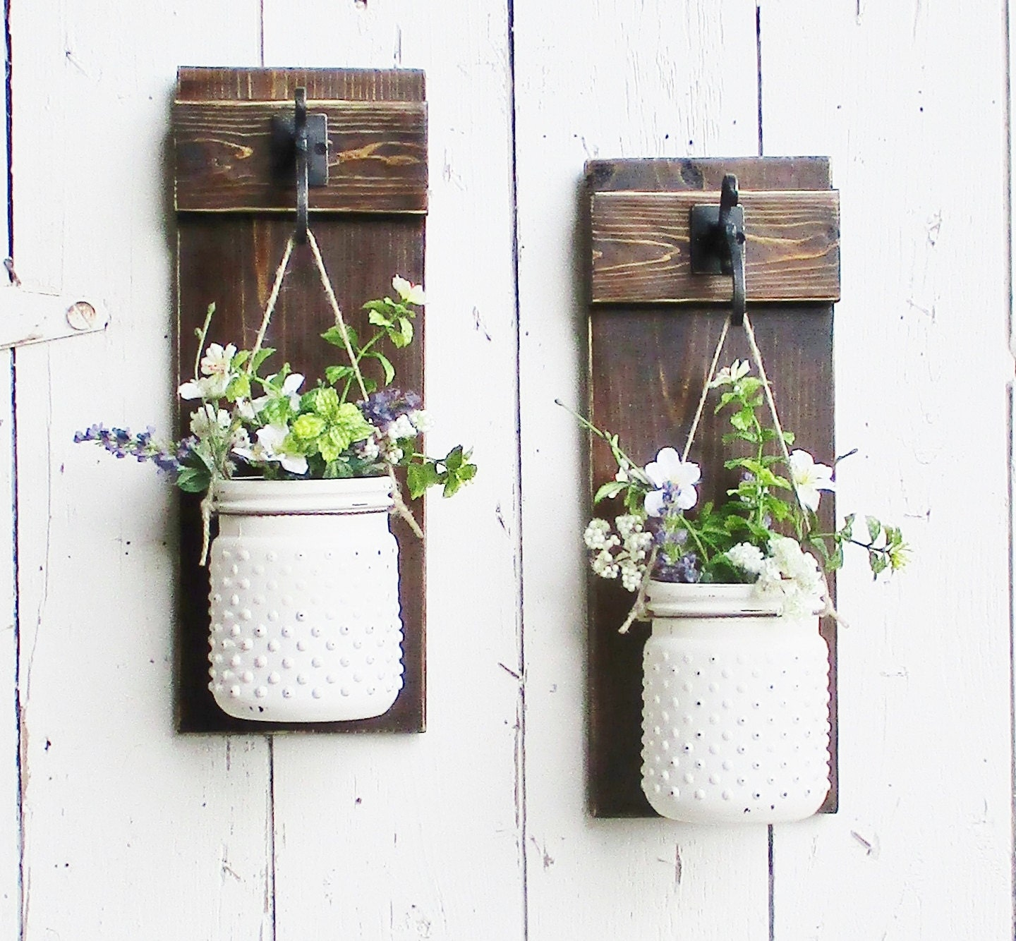 New rustic chic farmhouse wall decor on by cottagehomedecor for Wall decoration ideas with photos