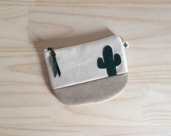 Cactus Coin Pouch, Green Cactus