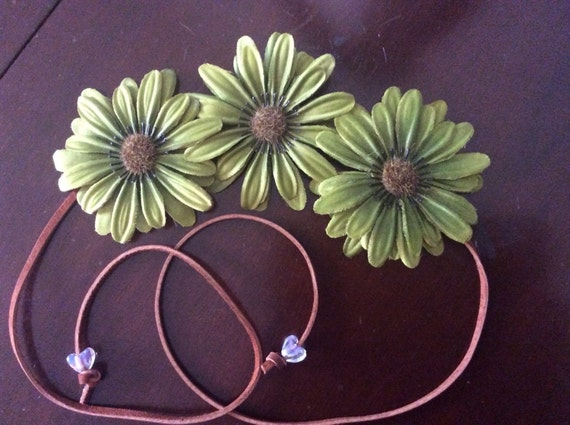 Green Flower Power Headband