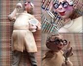 Vintage Klumpe Roldan Doll:  1950's Dentist