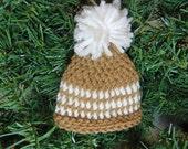 Tiny Crochet Hat Christmas Ornament
