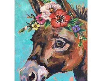 Flower donkey painting