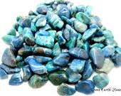 Chrysocolla Tumbled Stones, Eight Stones, Premium, Crystal Healing, Rock Hound, Reiki, Peace