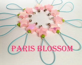 Knitting Stitch Markers  snag free - PARIS BLOSSOM
