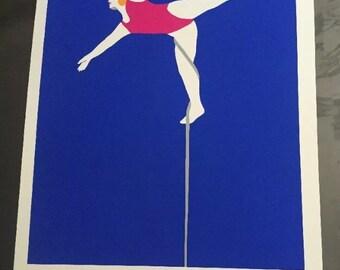 Vintage silkscreen circus poster 1970's